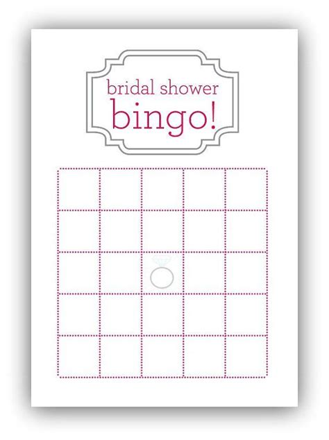 Wedding Shower Card Template by Bridal Shower Bingo Card Template My Posh Closet