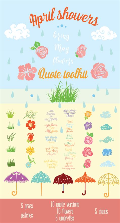 April Showers May Flowers by April Showers Bring May Flowers Craft Kit Creative Fabrica