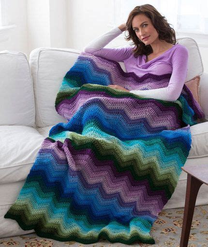 wave afghan in green and purple crochet throw blanket shades of blue green and purple crochet afghan patterns