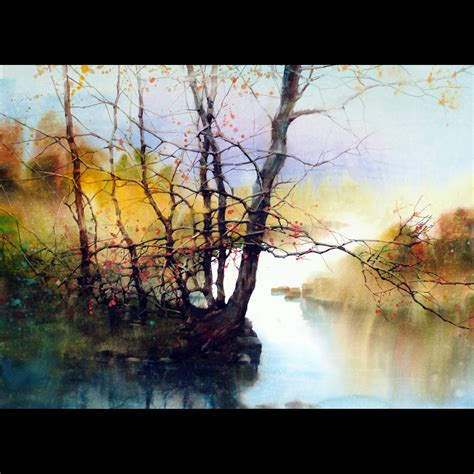 L Painting by Z L Feng Watercolor Central Pa Arts Festival