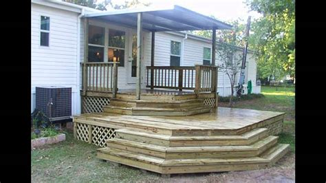 mobile home front porch plans mobile home porch ideas