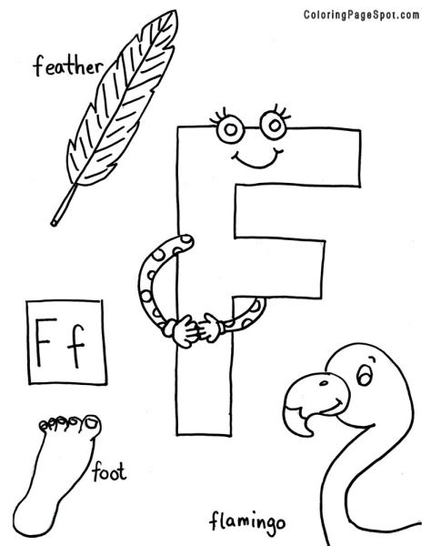colors that start with f coloring pages for letter quot f quot coloring pages for