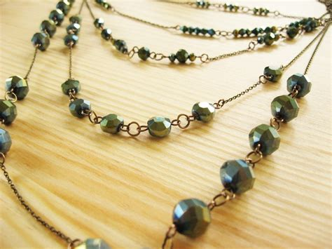 how to make a beaded chain necklace multi strand chain and bead necklace how did you make