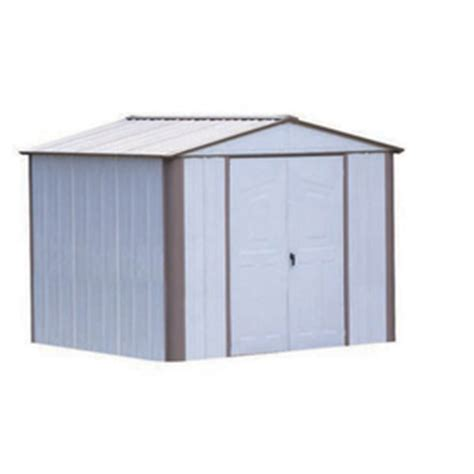 Metal Sheds Lowes by Shop Arrow 8 Ft X 6 Ft Galvanized Steel Storage Shed At