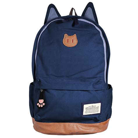 cute canvas cat ear backpack alex nld