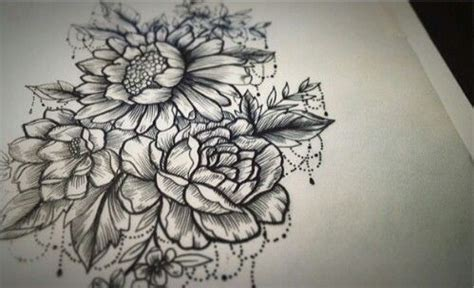 flower tattoos black and white black and white flower tattoos