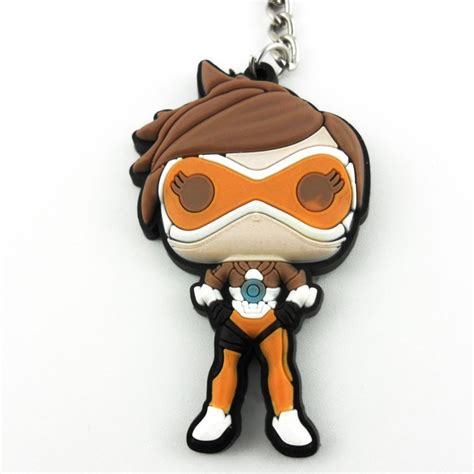 Dijamin Keychain Overwatch Reaper overwatch reaper winston tracer emily keychain keyring rubber new ebay