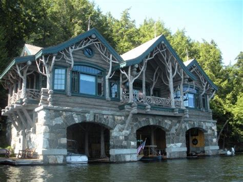 amazing lake house boat garage and all architecture - Houseboat With Garage