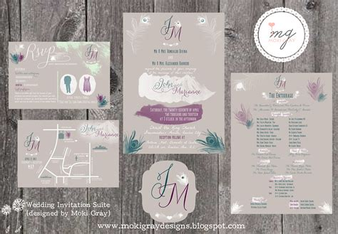 what comes in a wedding invitation suite moki gray designs vintage and rustic with a modern vibe