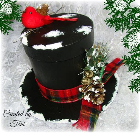 design own xmas hat how to create a frosty the snowman top hat gift box projects to try snowman box