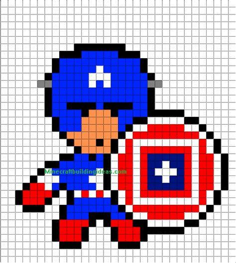 minecraft pixel art templates captain america