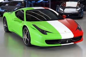 How Many Types Of Ferraris Are There 458 Wrapped In Italian Flag For Sale Autoevolution