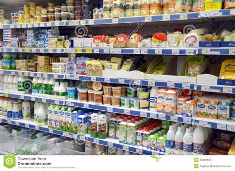 dairy products in the store editorial stock image image