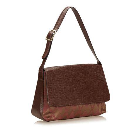 Jacquard Shoulder Bag by Givenchy Brown Argyle Jacquard Shoulder Bag For Sale At