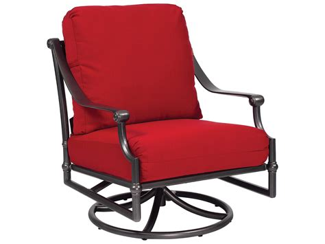 aluminum rocking chair woodard delphi cast aluminum cushion swivel rocking lounge