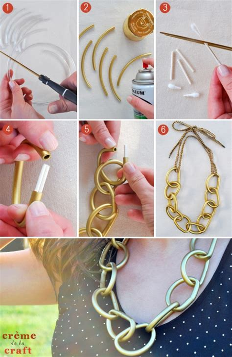 spray paint jewelry diy diy ideas make a statement with easy to make necklace