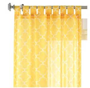 Yellow White Curtains Yellow Window Coverings Decor By Color