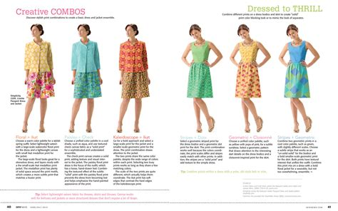 how to mix patterns mixing prints in sew news blog lisette