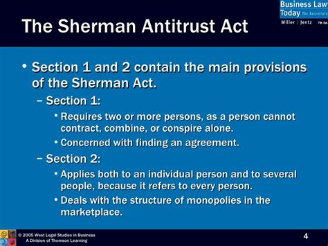 sherman act section 1 chapter 22