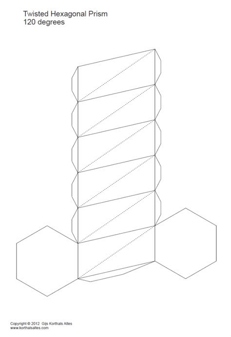 How To Make A Rectangular Prism With Paper - paper twisted hexagonal prisms
