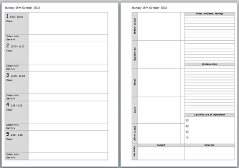 daily planner template teachers printable teacher planner template search results new