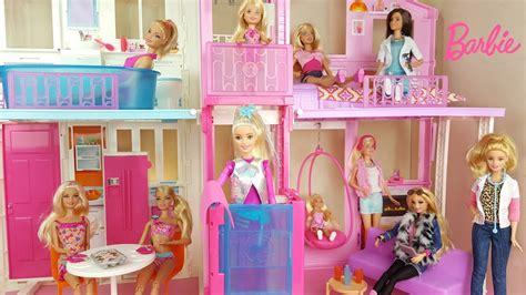 videos de casas de barbie super casa de co da barbie lan 231 amento 2016 review youtube