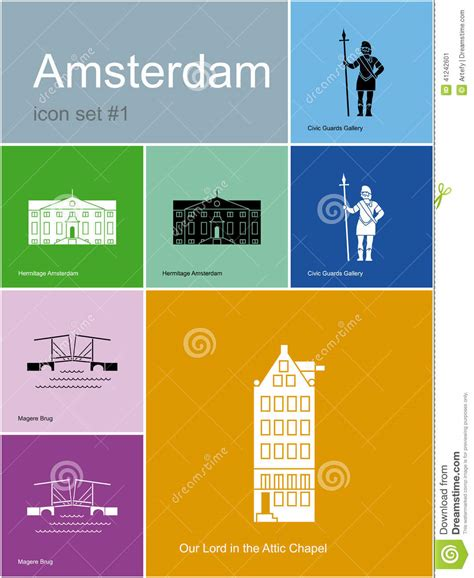 Amsterdam Fashion Icons And by Icons Of Amsterdam Stock Vector Image 41242601