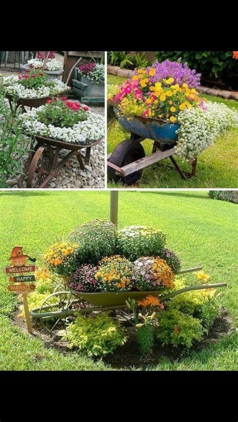 wheelbarrow garden ideas best 25 wheelbarrow garden ideas on