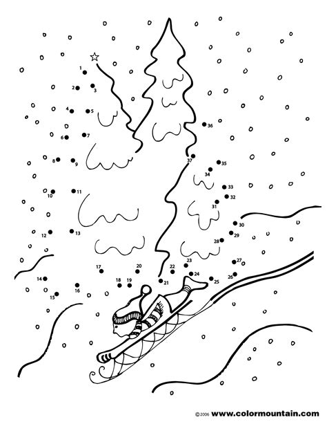 free printable dot to dot winter free coloring pages of winter dot to dot