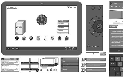 android gui design template android gui stencils kits and templates