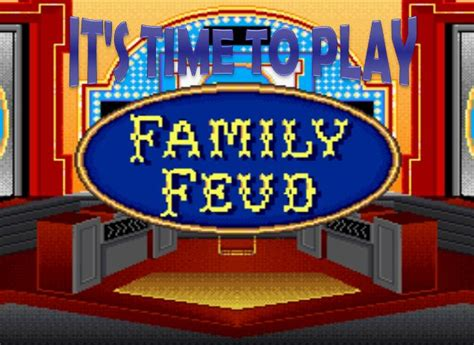 10 Best Images About Family Feud On Pinterest Activities Question And Answer And Math Family Feud Template