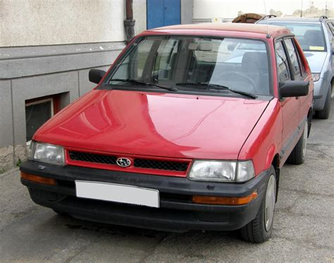 subaru justy 1993 subaru justy information and photos zombiedrive