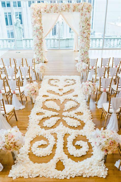 Navy Wedding Aisle Runner by 21 Flower Petal Aisle Runners For Your Wedding