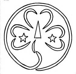 Guide Trefoil Outline by Scout Activity Sheets Gsusa Walnut Creek Ca Association Page World Association Pin