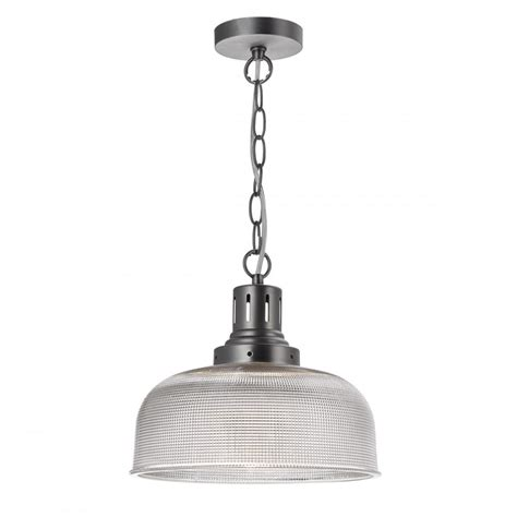 Industrial Glass Pendant Lights Tac0161 Tack 1 Light Glass Pendant Industrial Nickel