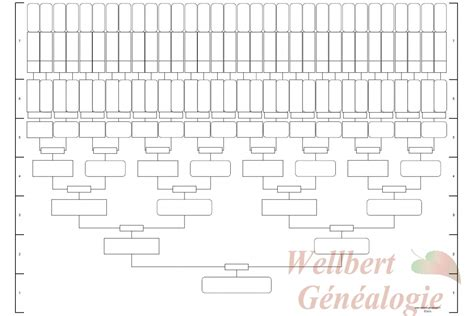 printable family tree template 7 generations slim empty