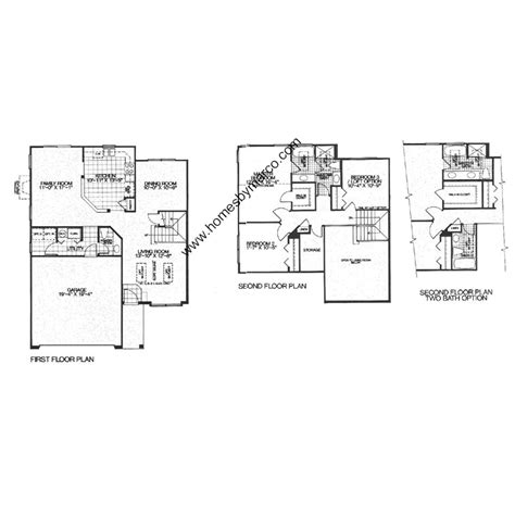 landon homes floor plans landon model in the cambridge country subdivision in