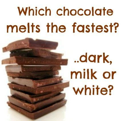chocolate science project which chocolate melts the fastest and why dark milk or