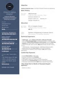 Visual Basic Programmer Sle Resume by Web Developer Resume Sles Visualcv Resume Sles Database