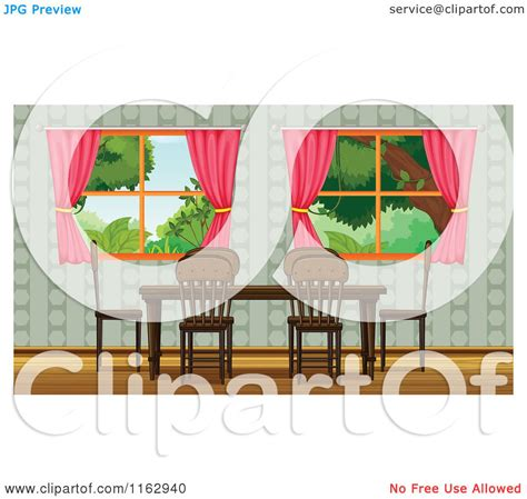 Free Dining Room Table And Chairs Of A Dining Room Table And Chairs Royalty Free Vector Igf Usa