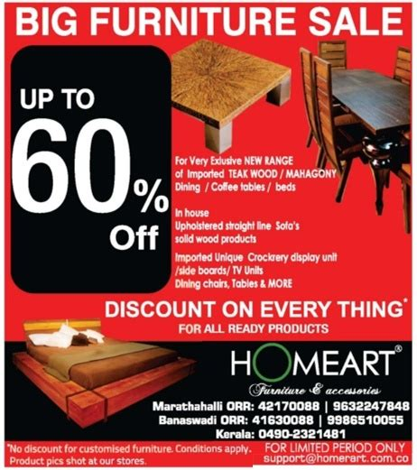 Homeart Chair by Homeart Furniture Upto 60 Bangalore Saleraja