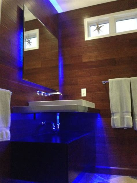 led strip lights for bathroom mirrors led bathroom lighting modern bathroom st louis by