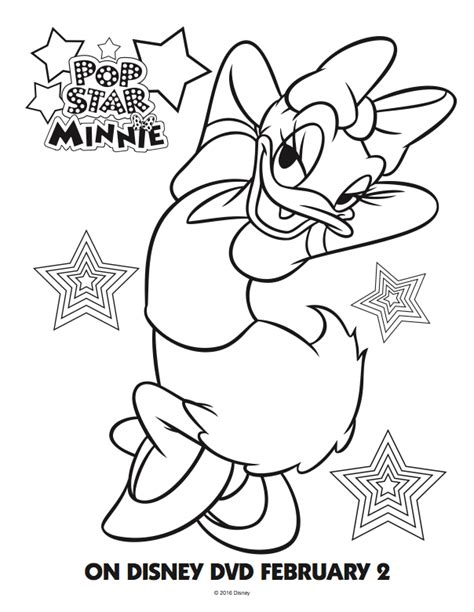 daisy mickey mouse coloring pages pop star minnie mouse free coloring pages mommy mafia