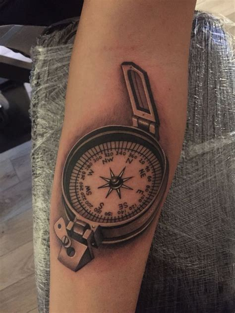 compass navy tattoo military compass tattoo by nick westfall start of sleeve