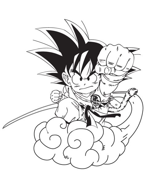 cartoon dragon ball goku coloring page h m coloring pages