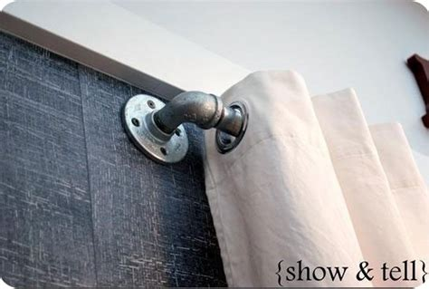 industrial pipe curtain rod industrial curtain rod details pinterest
