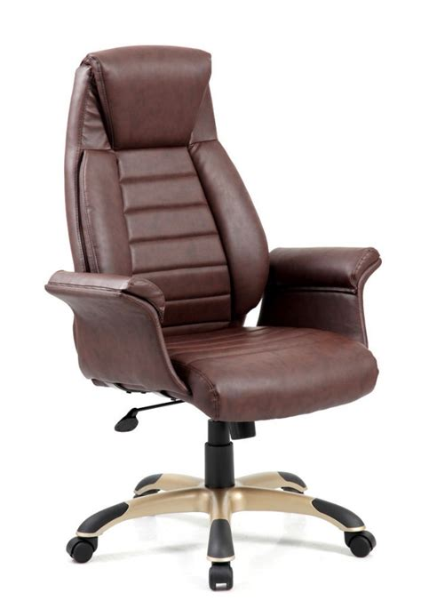 Leather Office Armchair by Riga Brown Leather Office Armchair