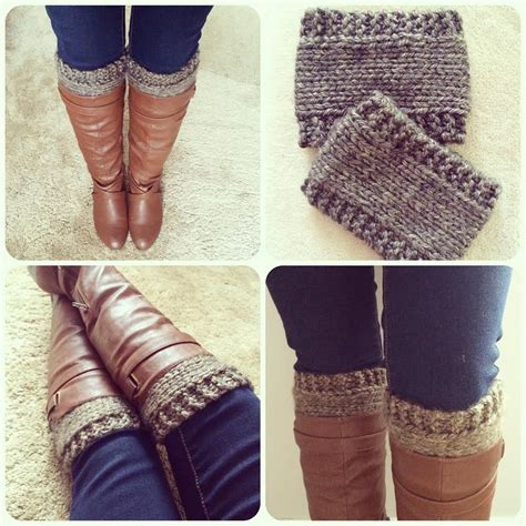 knit cuffs free pattern knitted boot cuffs revised version