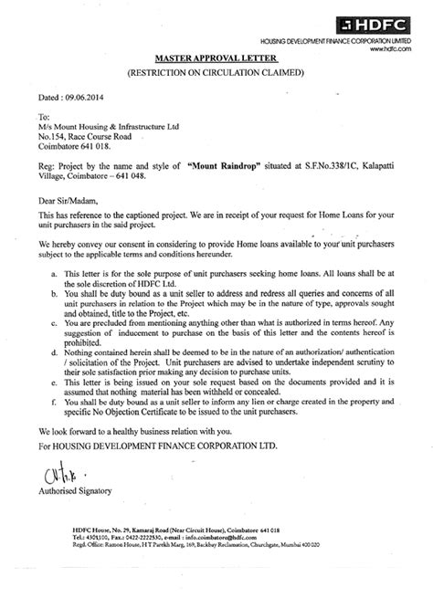 Complaint Letter Against Hdfc Bank Documents Of Mount Raindrop Apartments Mounthousing