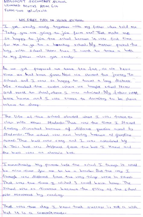Day Essay by Essay Writing My Day At School
